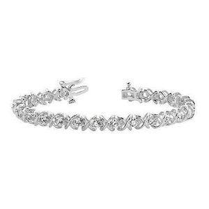 Jewelry - Gorgeous round diamond tennis lady bracelet gold w